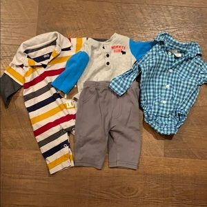 Assorted three month baby boy clothing